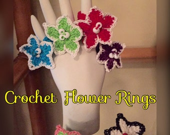 Crochet Flower Rings