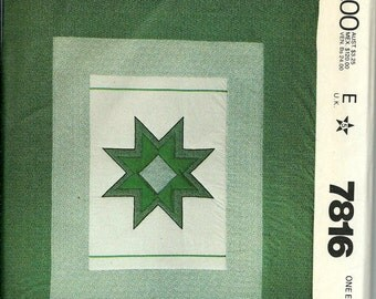 VTG McCall's 7816 Quick & Easy Quilts Pattern UNCUT