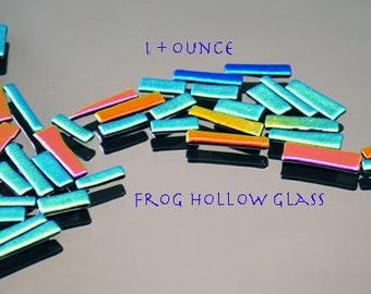 Dichroic Glass - Bits & Pieces - Mosaic Supplies - Long Tiles