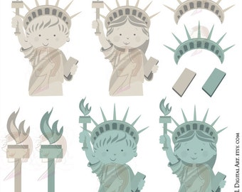 School Teacher Clipart New York Statue of Liberty USA American Pride Patriotic Celebration Independence Day Fourth of July 4th of July 10687