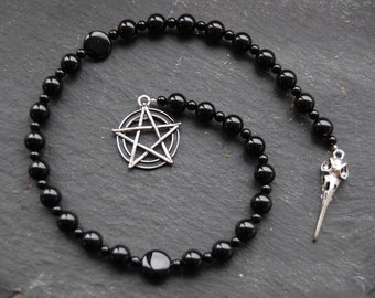 Magic of the Raven Witches'/Witch's Ladder/Druid's Ladder/Prayer Beads/Necklace. Pagan Wicca Witch Goddess Morrigan Morrighan Morgan Odin