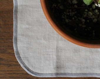 Linen Kitchen Wipes in White Set of 4