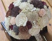 Wedding, Bride  Bouquet, Sola wood Bouquet, READY TO SHIP,  Sola Bouquet, Alternative Bouquet, Sola flowers, Rustic  Bouquet