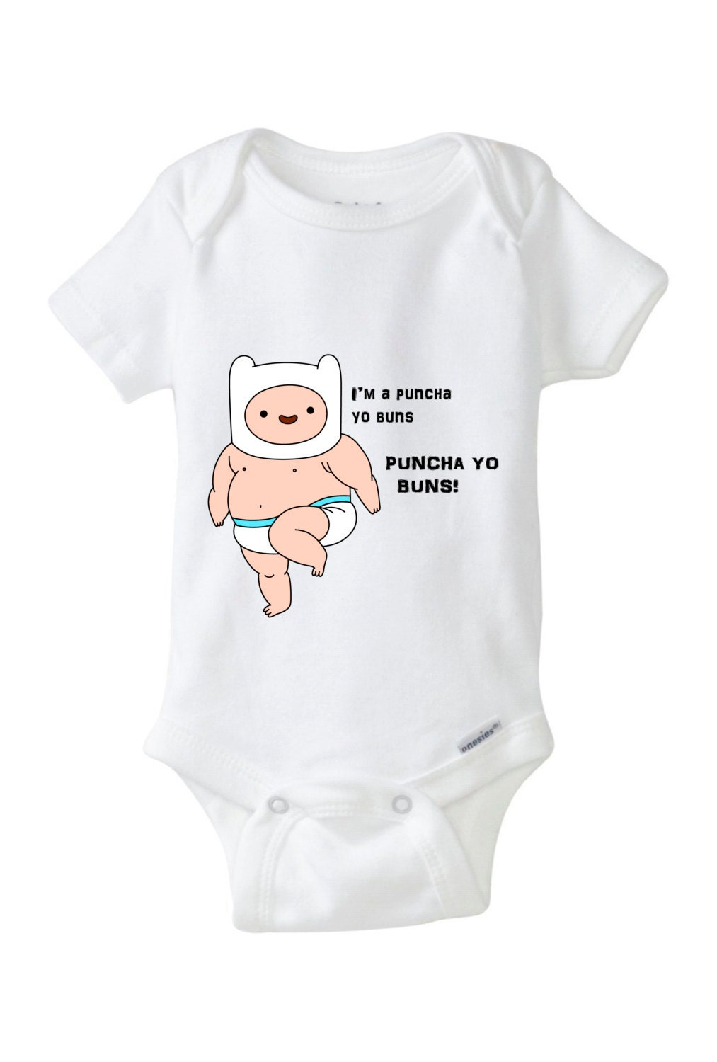 Baby 100 Cotton Onesie Adventure Time Children Infants 6 To