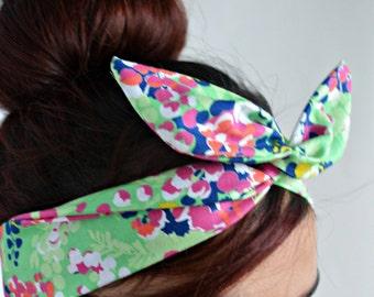 Flower Bow, Floral head bands, dolly bow headband , A1