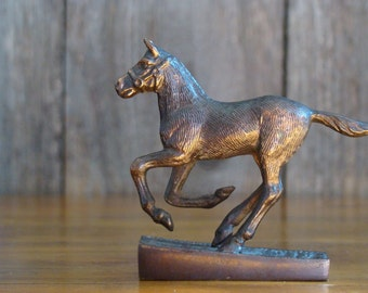 Futurity Filly - Vintage 1950s Copper Plated Thoroughbred Foal Trophy Topper