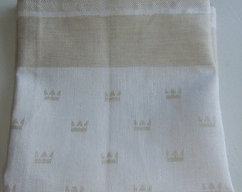 Vintage Swedish rare linen placemats with Royal crowns by Klässbols
