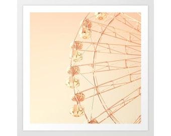 Blush pink wall art, girl nursery decor, carousel, nursery decor girl, toddler girl room wall decor, nursery wall art, nursery art, canvas