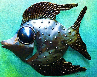 Elroy the fish, metal wall piece