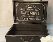 Aged to Perfection Gift Box, Card Box, 30th Birthday, 40th Birthday, 50th Birthday, 60th Birthday, Keepsake Box, Black,  MHB