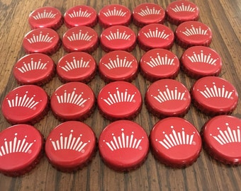 25 Budweiser Crown Metal Beer Bottle Caps, Bottle Caps, Beer Bottle Caps, Bottle Tops