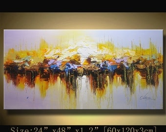 Abstract Wall Painting, expressionism Textured Painting,Impasto Landscape Painting  ,Palette Knife Painting on Canvas by Chen w21