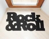 Rock & Roll home decor. Elegant floor mat for your entry.
