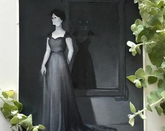 Vampire's House Acrylic painting