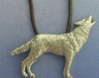 wolf pendant amulet 925 sterling silver necklace charm