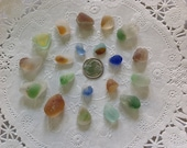 Bonfire Glass Sea Beach Glass Nicely Shaped Beautiful Colors Rare Surf-tumbled