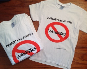 No Weezy Anti-Lil Wayne T-Shirt Inspired by Underground Old School Hip Hop Rap No Smoking Ashma Tee