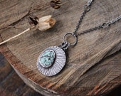 Stamped Turquoise Illuminate Necklace