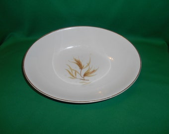 """One (1), 9"""" Oval Vegetable Bowl, from Royal Doulton, in the Golden Maize, H 4934 Pattern."""