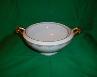 """One (1), Porcelain, 8 1/4"""" Vegetable Bowl, with No Lid, from Meito China, in the V 2146 Pattern"""