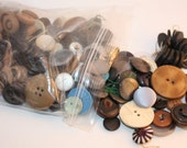 Vintage lot of over 350 Multi-Colored Buttons, Wood, Leather, Plastic, Shank, Great For Crafts, Projects, Design-Supply, Mid-Century, Repair