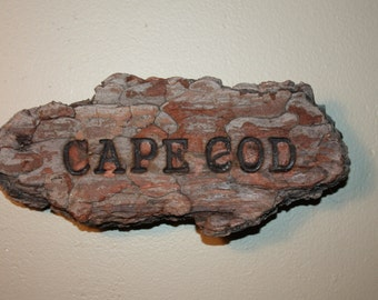 Hand Made Driftwood Wood Burned Sign, Wall Hanging, Cape Cod, Art, Home Decor, Cottage Chic, Beach House, Ready to Hang