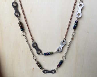 Reclaimed Bicycle Chain Necklace Bicycle Jewelry