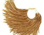 Gold Fringe Hoops