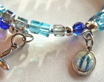Turquoise and Blue Rosary Bracelet