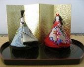 A set of Hima Doll,silk kimonno fabric #2