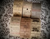 HUGE SALE 36 Antique London Bus Tickets Mixed Lot Assortment | Travel, Transportation Tickets | Neutral, Black, White, Gray, Taupe | LAST On