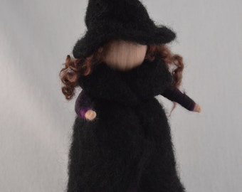 Witch, Needle felted Witch, 25 cm / 9,5 Inch, nature table doll