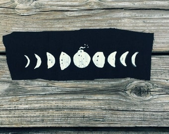 Lunar Eclipse // Back Patch // Punk Patch // Moon Phases