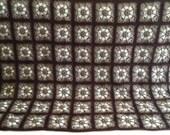 Crochet afghan coffee mocha cappuccino café latté espresso granny squares, MADE TO ORDER