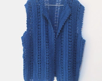 Vintage Blue knitted vest