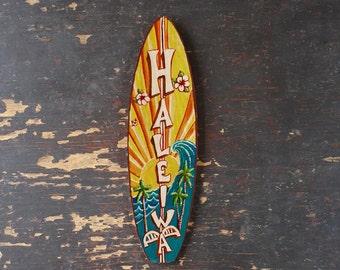 Haleiwa Mini Surfboard - beach, tropical, hawaiian wall decor
