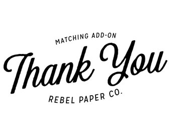 Thank You cards // Matching Add-on