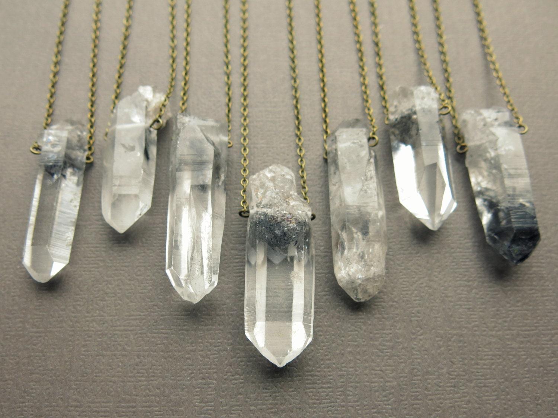 tibetan quartz necklace healing crystal necklace phantom. Black Bedroom Furniture Sets. Home Design Ideas