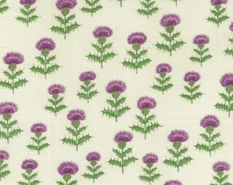 Fat Quarter Thistle Flowers 100% Cotton Quilting Fabric Scotland Nutex
