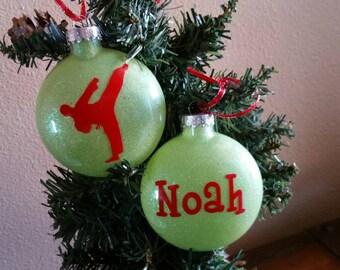 Karate Taekwondo Christmas Ornament - Personalized