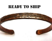 Hand Forged Copper Bracelet. Rustic Charm. Cool gifts for men or women. Fight Arthritis with style.
