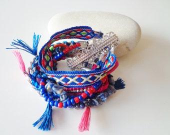Bohemian Bracelet,Tassel,Fringe,Boho Jewelry.