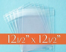 20% OFF 100 12 1/2 x 12 1/2 Inches, Resealable Cello Bags, Acid Free Scrapbook Packaging