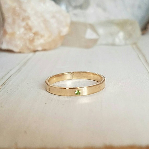 Gold Birthstone Ring, 3mm, Stacking rings, 14kt Gold filled ring, Personalized gold Ring, Any month, Birthstone ring, Gold ring, Stackable