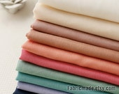 Pastel Silk Cotton Fabric Cotton Lining Baby Clothes Fabric - 7 NEW color available Blue Nude Purple Peach 1/2 yard