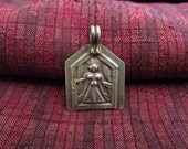 Antique Silver Kali Hindu Amulet