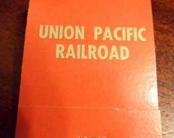 Unused Union Pacific Railway Matchbook, Railroad Matchbook, Never Used  (T)