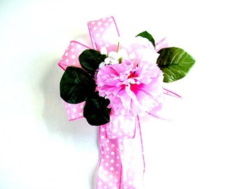 Bow for pregnant moms, Pink baby shower bow, Gift wrap bow, It's A Girl gift bow, Pink baby gift wrap bow, All pink baby bow (BG38)