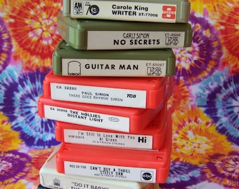 Vintage 8 Track Tapes (lot of 11)Eight Track Tapes.Carole King.The Carpenters.Carly Simon.The Spinners.The Miracles.Paul Simon.Moody Blues.