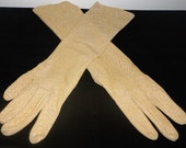 Beautiful Gold sparkly Long Gloves  (vintage)